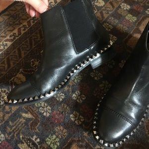 Zara Black Studded Ankle Chelsea Boots
